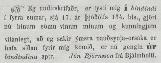 Þjóðólfur, 13. júlí 1866.