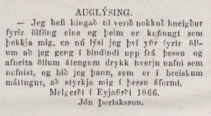 Norðanfari, fimmta tölublað 1866.