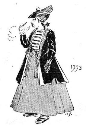 1993. Hundrað árum síðar er tískan orðin svona.