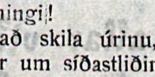 """Dularfull auglýsing 1912: """"Farðu að skila úrinu, sem jeg lánaði þjer"""""""