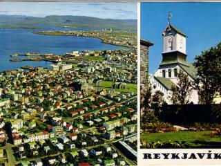 Póstkort sem Borges sendi móður sinni frá Íslandi, 1971