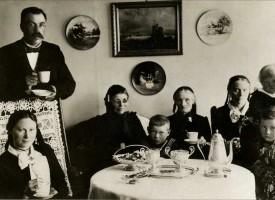Kaffi og með því, Prestsbakki árið 1902