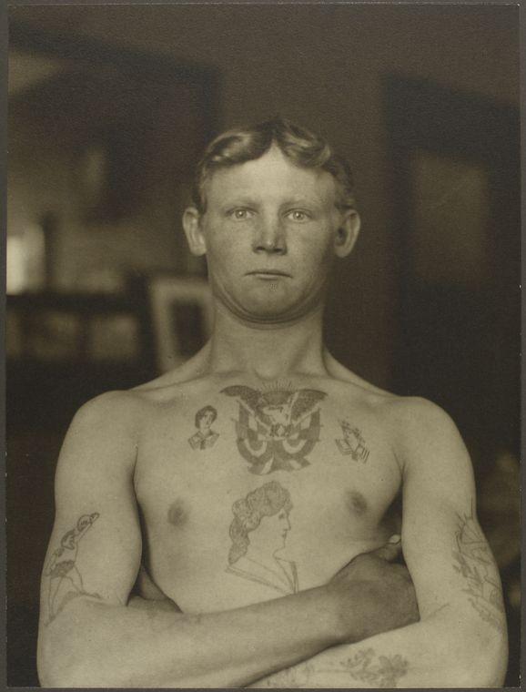 Þýskur laumufarþegi árið 1911