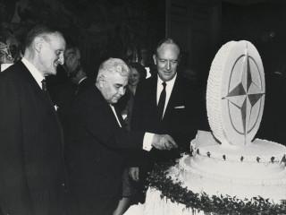Bjarni og afmælisterta NATO