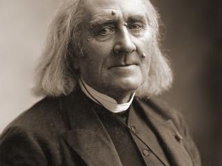 Franz Liszt í mars 1886