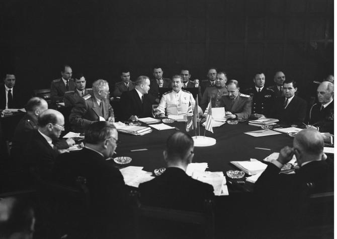 Stalín í Potsdam árið 1945