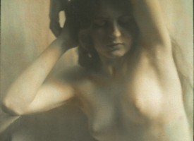"""Nude study"" eftir Arnold Genthe."