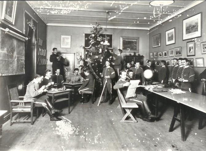 Jólastemning hjá sænska hernum, 1902