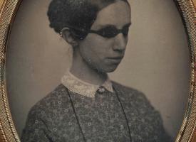 Blind og heyrnarlaus kona árið 1855