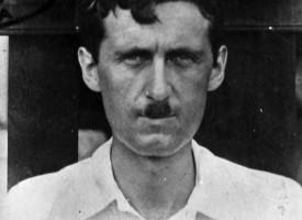 George Orwell á vegabréfi sínu á árum hans í Búrma