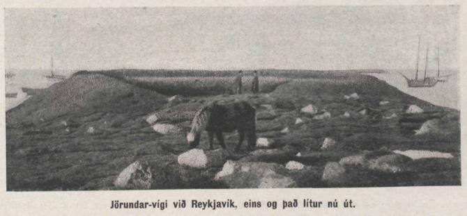 Leifar af vígi Jörundar, Arnarhóll árið 1911