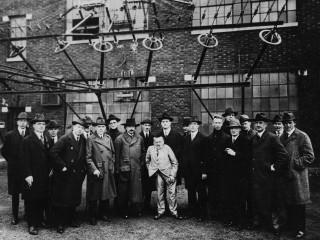 Einstein, Tesla og félagar árið 1921