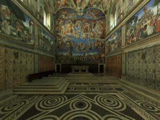 Glæsileg 360-gráðu panórama af Sixtínsku kapellunni