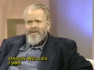 Orson Welles í sjónvarpsviðtali tveimur tímum fyrir andlát sitt
