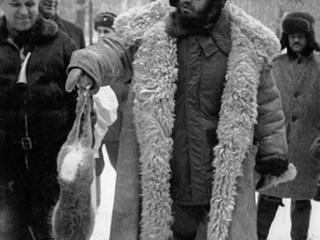 Fidel Castro á veiðum í Sovétríkjunum