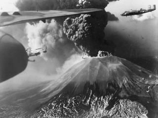 Vesúvíus gýs árið 1944