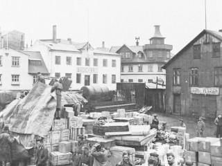 Birgðastöð Bandaríkjahers í Reykjavík 1942
