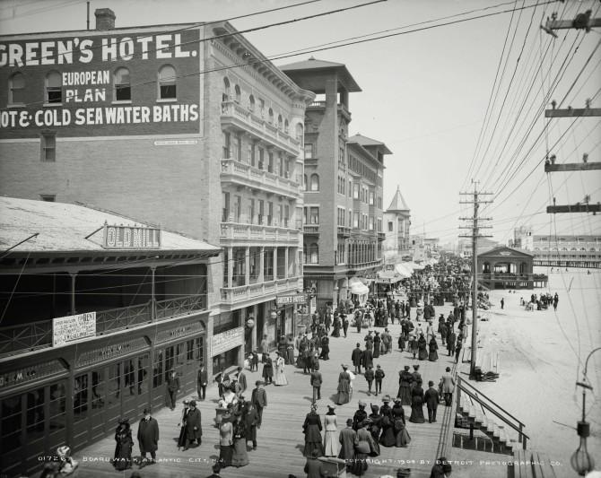Gangvegurinn í Atlantic City 1904