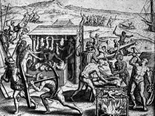 Teikningar frá 16. öld sýna ógurlega grimmd Spánverja í Nýja heiminum