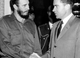 Richard Nixon og Fídel Castro árið 1959