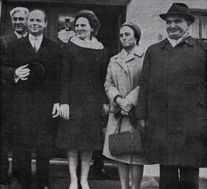 Rúmenski kommúnistaleiðtoginn Nicolae Ceaușescu heimsækir Ísland 1970