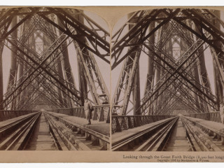 Forth Bridge í Skotlandi, árið 1896