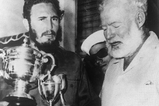 Castro og Hemingway.