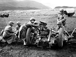 Bandarískir hermenn á Sandskeiði, 1943