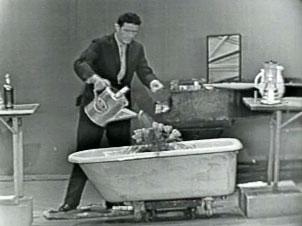 John Cage treður upp í amerískum skemmtiþætti