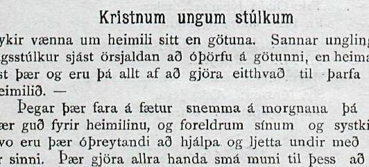 Kristnar ungar stúlkur eiga að vera heima hjá sér!