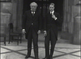 NPG x32185; David Lloyd George, 1st Earl Lloyd-George; Edward, Duke of Windsor by Vandyk