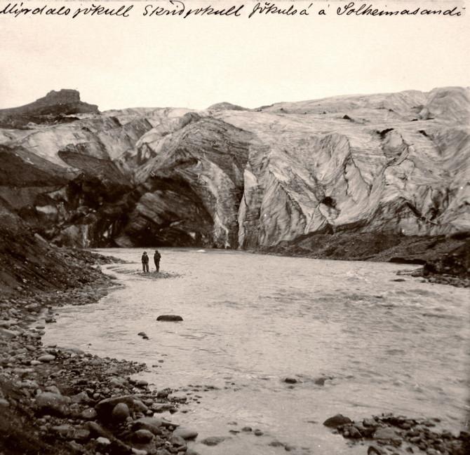 Við Sólheimajökul árið 1910