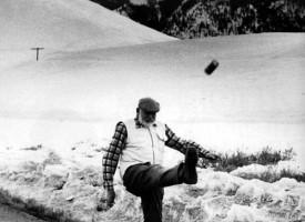 Hemingway og bjórdós, Idaho 1960