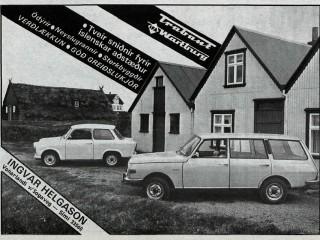 Þjóðlegir Trabant og Wartburg bílar