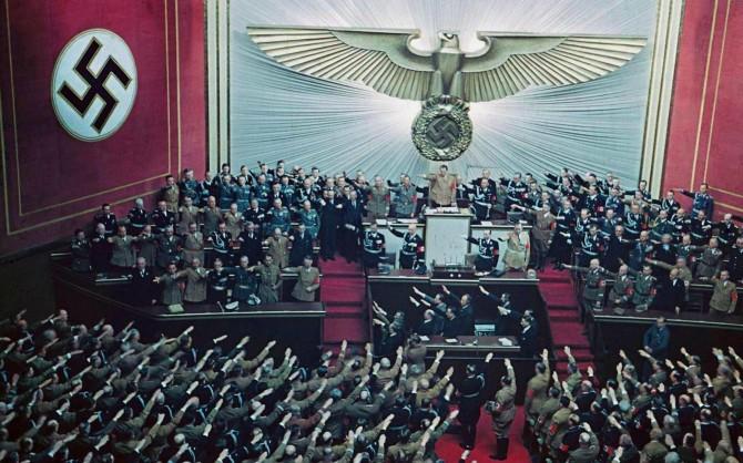 Hitler ávarpar þýska þingið, 1939