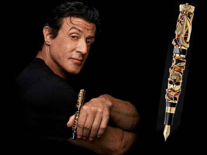 Chaos, gull-hauskúpupenninn sem Sylvester Stallone hannaði