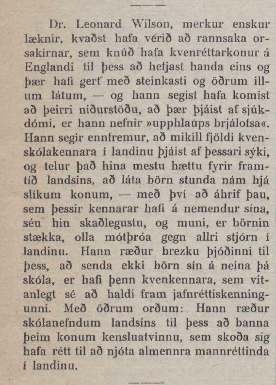 """Kvenréttindakonur þjást af """"upphlaups brjálofsa"""""""