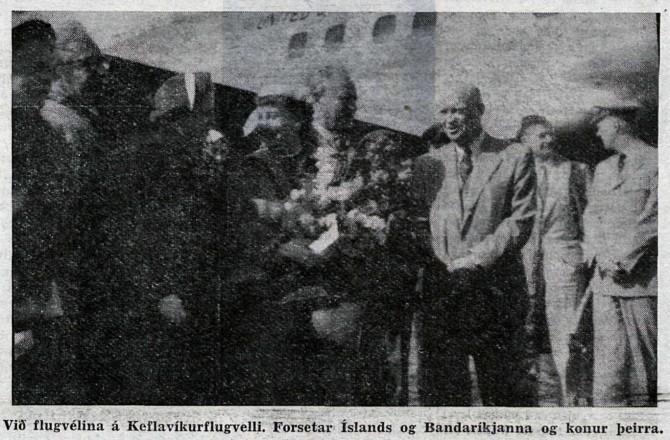 Dwight Eisenhower og Ásgeir Ásgeirsson