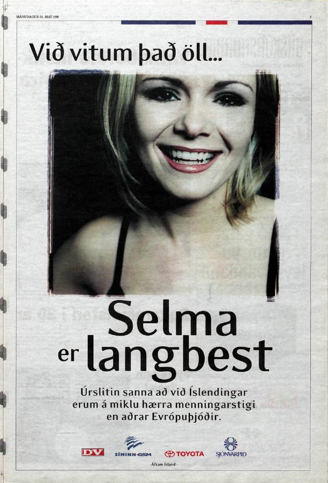"""RÚV árið 1999:""""Við Íslendingar erum á miklu hærra menningarstigi en aðrar Evrópuþjóðir"""""""