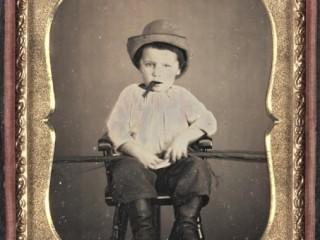 Barn með vindil, 1855