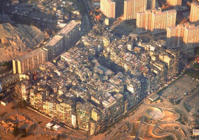 Kowloon: Fimmtíu þúsund manna steypudrangi