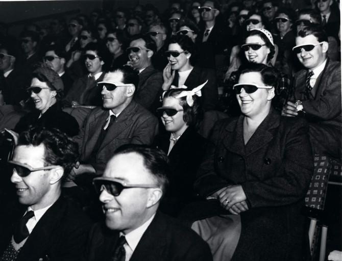 Gestir í bresku þrívíddarbíói árið 1951