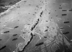 Skipafloti við Normandy