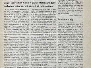 """""""Ungir kjósendur! Kynnið ykkur stefnuskrá þjóðernissinna áður en þið gangið að kjörborðinu."""""""