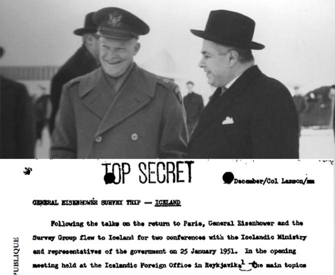 Leyniskjal NATO um heimsókn Eisenhowers til Íslands
