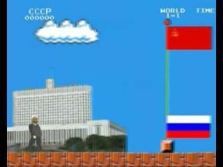 Saga Sovétríkjanna sögð í tölvuleiknum Super Mario Bros