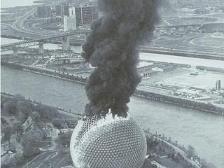 Sköpunarverk Buckminster Fuller brennur