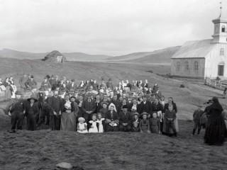 Gullbrúðkaup við Lágafellskirkju 1901