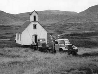 Hallgrímskirkja flutt, 1957
