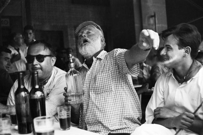 Hemingway á barnum í Havana á Kúbu